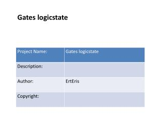 Gates logicstate