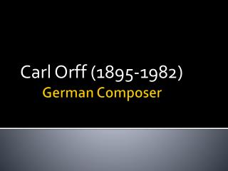 German Composer