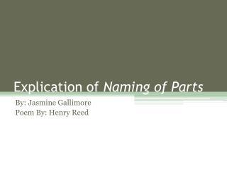 Explication of  Naming of Parts