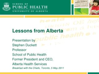 Lessons from Alberta