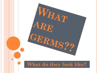 What are germs??