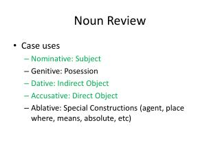 Noun Review