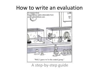 How to write an evaluation