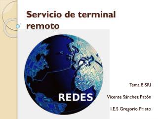 Servicio de terminal remoto