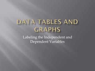 Data Tables and Graphs