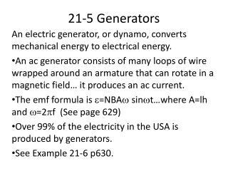 21-5 Generators