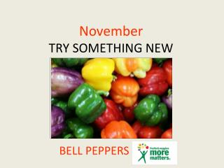 November TRY SOMETHING NEW