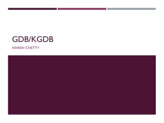 GDB/KGDB