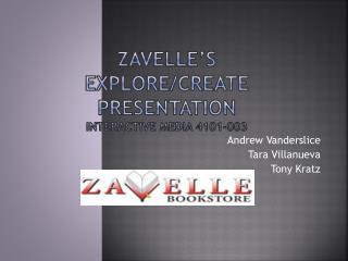 Zavelle's Explore/CREATE Presentation Interactive Media 4101-003