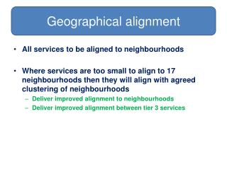 Geographical alignment