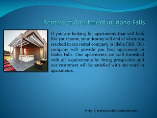 Rentals In Idaho Falls