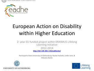 European Action on Disability within Higher Education