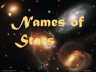 Names of Stars
