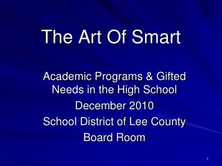 The Art Of Smart