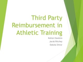 Third Party Reimbursement