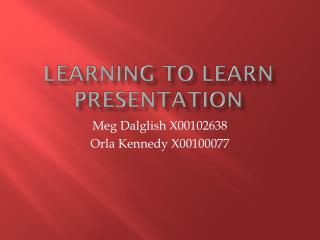 Learning to Learn Presentation