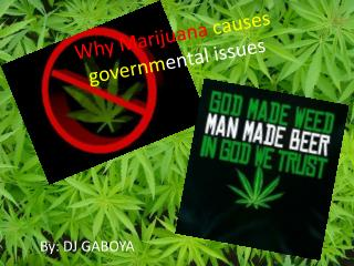 Why Marijuana  causes governm ental issues