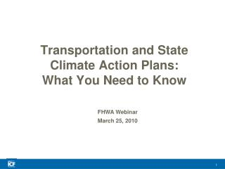 Transportation and State Climate Action Plans: What You Need to Know
