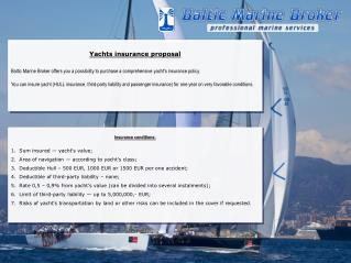 Yachts insurance proposal