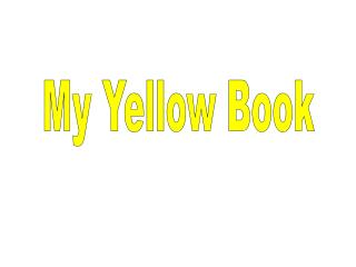 My Yellow Book