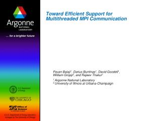 Toward Efficient Support for Multithreaded MPI Communication