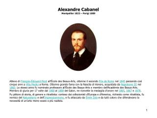 Alexandre Cabanel Montpellier 1823 – Parigi 1889
