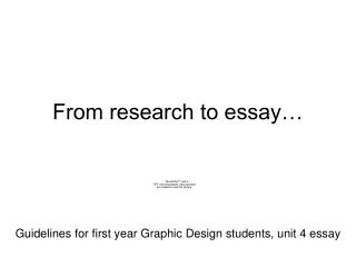 From research to essay…