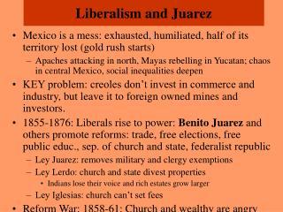 Liberalism and Juarez