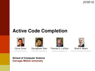 Active Code Completion