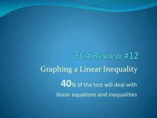 ECA Review #12