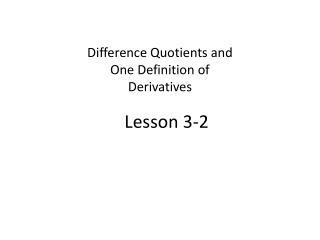 Lesson 3-2