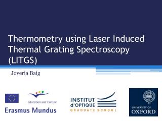 Thermometry using Laser Induced Thermal Grating Spectroscopy (LITGS)