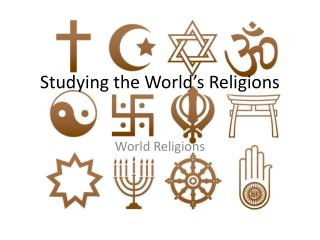 Studying the World's Religions