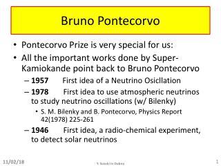 Bruno  Pontecorvo