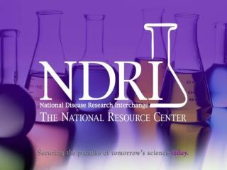 NDRI Mission Since 1980
