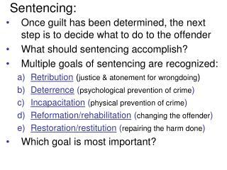 Sentencing: