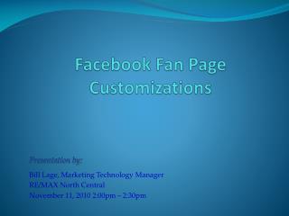 Facebook  Fan Page Customizations