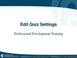 Edit Quiz Settings