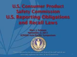 REPORTING OBLIGATIONS Section 15 [U.S.C. § 2064] – Substantial Product Hazards