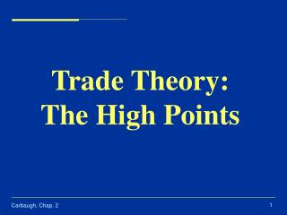 Trade Theory: The High Points