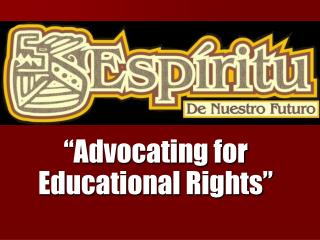 """Advocating for Educational Rights"""