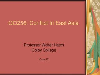 GO256: Conflict in East Asia