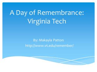A Day of Remembrance: Virginia Tech