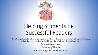 Helping Students Be Successful Readers