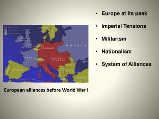 European alliances before World War I