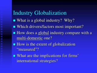 Industry Globalization