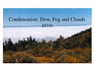 Condensation: Dew, Fog and Clouds
