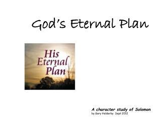 God's Eternal Plan