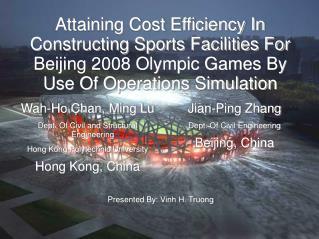 Wah-Ho Chan, Ming Lu Dept. Of Civil and Structural Engineering Hong Kong Polytechnic University