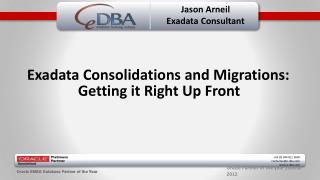 Jason Arneil Exadata  Consultant